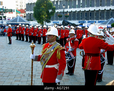Royal Gibraltar Regiment Band - Image courtesy of Jack Cox Travelpicspro.com