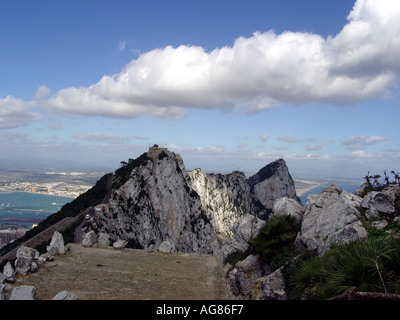 Gibraltar - Eastern view of the Upper Rock Nature Reserve - The Cable Car station can be seen in the middle - Image courtesy of Jack Cox Travelpicspro.com