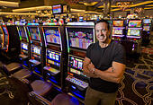 Oct. 30, 2013 - Rohnert Park, CA, USA - Graton tribal chair Greg Sarris stand inside of the 340,000-square-foot gambling palace that has 3,000 slot machines and 144 table games at the Graton Casino & Restort Wednesday October 30, 2013 in Rohnert Park, Calif.On Tuesday, the 1,300-member Sonoma County tribe will open its Graton Resort & Casino. Situated next to U.S. Highway 101 in Rohnert Park as the closest tribal casino to San Francisco, the $800 million development is expected to instantly rival the Thunder Valley Casino Resort in Lincoln for supremacy in the California gambling market.Anit -Stock Image- E5EBFT