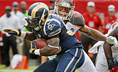 Sept. 14, 2014 - Tampa, Florida, U.S. - JIM DAMASKE | Times.Bucs Mason Foster (59) tries to wrap up Rams Zac Stacy (30) during the Tampa Bay Buccaneers game against the Rams at Raymond James Stadium on Sunday afternoon 9/14/14. (Credit Image: © Jim Damaske/Tampa Bay Times/ZUMA Wire) -Stock Image- E7H00B