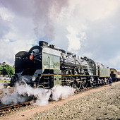 "Historic steam locomotive ""Pacific PLM 231 K 8"" of ""Paimpol-Pontrieux"" train Brittany France -Stock Image- D5RAJH"