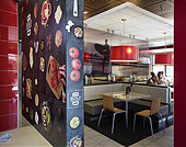 Aug. 28, 2014 - Laguna Niguel, CA, USA - McDonald's Laguna Niguel restaurant on La Paz is upscale and modern. This location offers a customized, gourmet Build Your Own burger. ///ADDITIONAL INFORMATION: McDonalds.0829.cy Ð 08/27/14 Ð CINDY YAMANAKA, ORANGE COUNTY REGISTER Update on McDonald's Custom Burger test.McDonald's drew national attention when the Register broke the news late last year that the chain was testing a Build Your Own burger in Laguna Niguel. On Thursday, I'm getting a behind the scenes look at the BYB expansion in Orange County. Getting details on expansion, and -Stock Image- E851PW