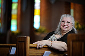 Sept. 15, 2014 - Augusta, GA, U.S. - Sharon Manzi poses for a photo at Lake Park Baptist Church in Augusta, Ga. Wednesday afternoon September 17, 2014. Michael Holahan/Staff (Credit Image: © Michael Holahan/The Augusta Chronicle/ZUMA Wire) -Stock Image- E7H2J0