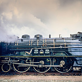 "Historic steam locomotive ""Pacific PLM 231 K 8"" of ""Paimpol-Pontrieux"" train Brittany France -Stock Image- D5RAHY"