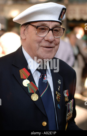 Second world war veteran of the Arctic Russian Convoys at the Wales Remembers ceremony Cardiff Wales UK