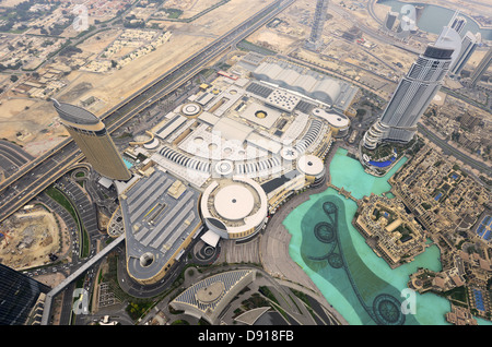 Dubai Mall, aerial view of the Dubai Mall, world's largest mall, Dubai, United Arab Emirates