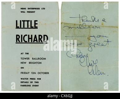 000545 - The Beatles & Little Richard Handbill from the Tower Ballroom, New Brighton on 12th October 1962