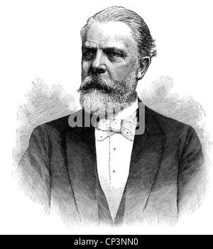 Stangen, Carl, 5.5.1833 - 21.11.1911, German businessman, founder of the first German international travel agency, portrait, woo