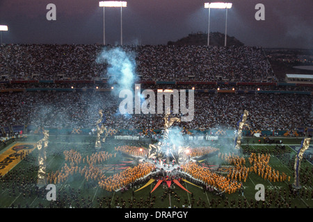 Half time at the1996 Super Bowl XXX, Dallas Cowboys vs.Pittsburgh Steelers