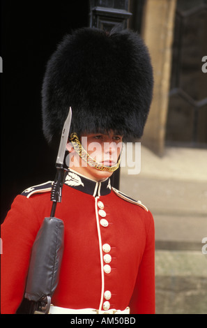 London England palace guard in traditional costume or uniform of red    England Traditional Costume