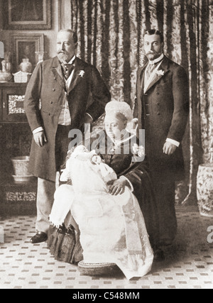 Queen Victoria holding her great grandson prince Edward, later Edward VIII, in 1894.