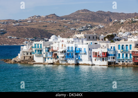 White houses in Mykonos, Greece