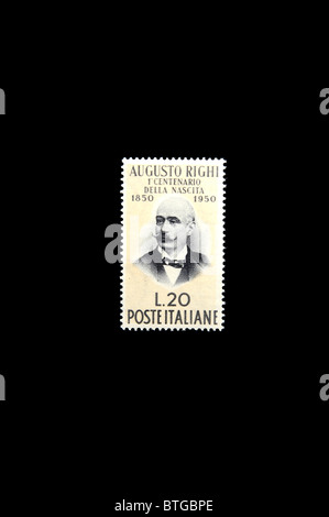 Augusto Righi, physicist in an italian stamp