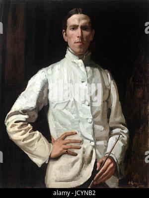 Hugh Ramsay, Self-portrait in White Jacket 1901-1902 Oil on canvas. National Gallery of Victoria, Australia.