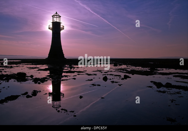 whiteford-light-house-silhouetted-agains