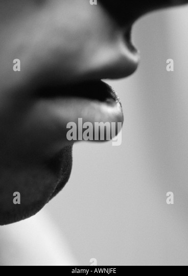 mans-lips-side-view-close-up-black-and-w