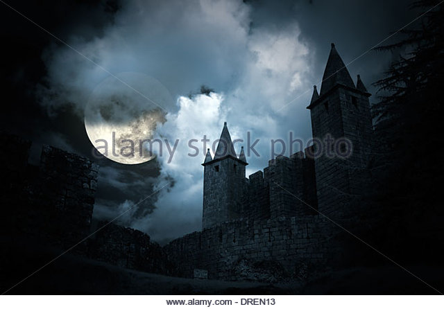 mysterious-medieval-castle-in-a-full-moo