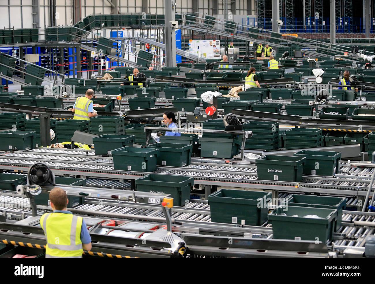John Lewis distribution centre Milton Keynes December 2013