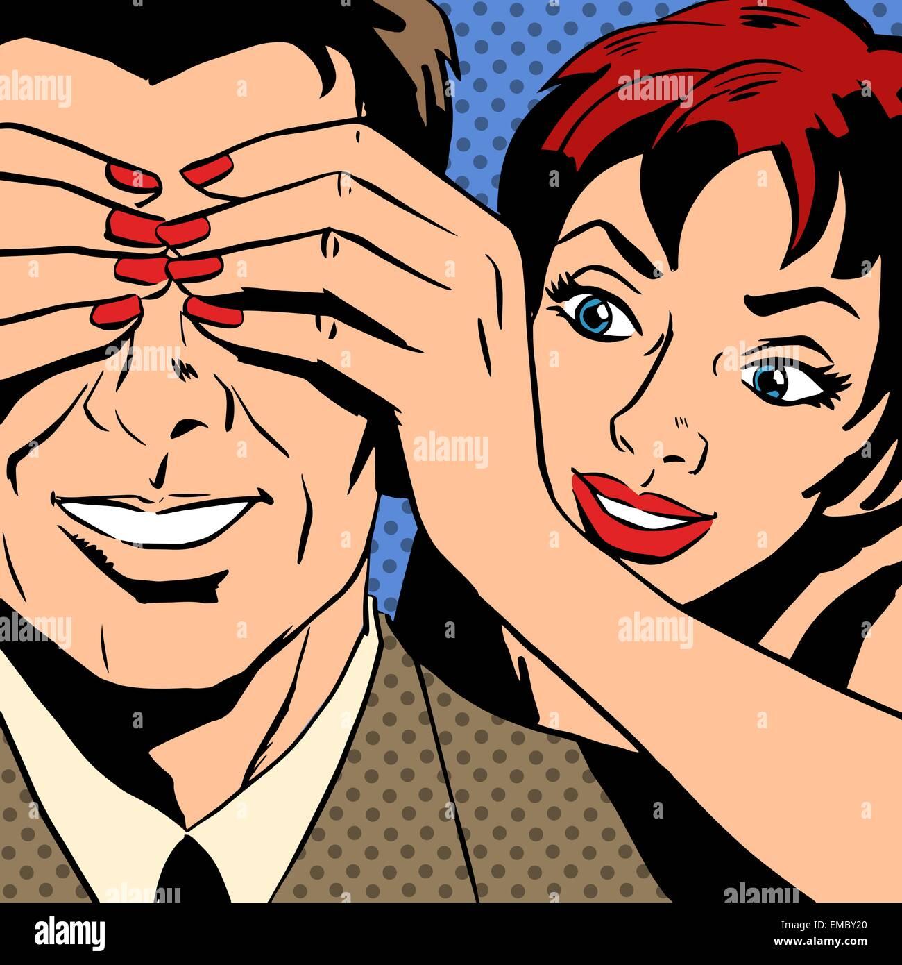 Der flirt ist die kunst einer frau