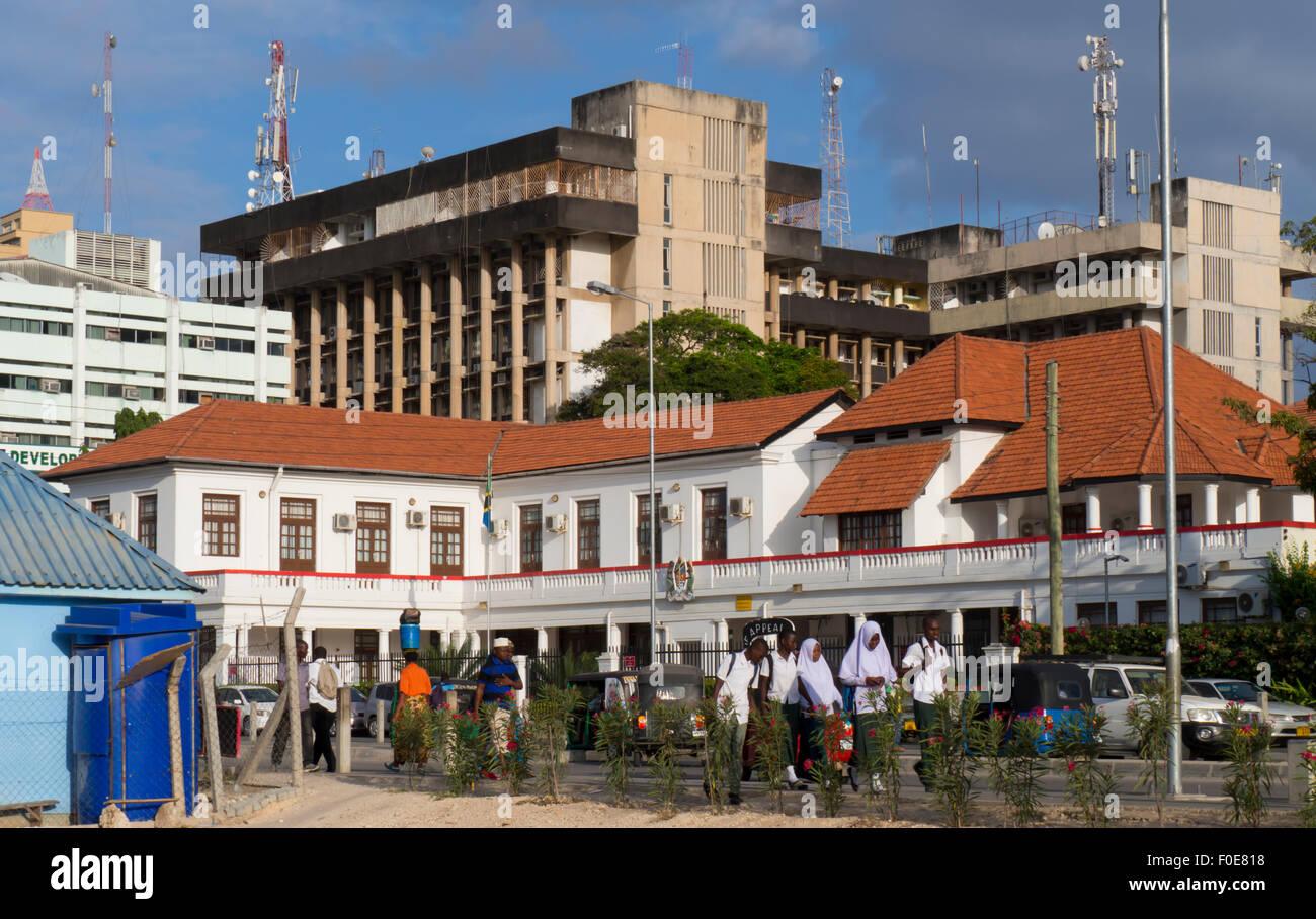 Public gardens in Dar es Salaam, the capital of Tanzania