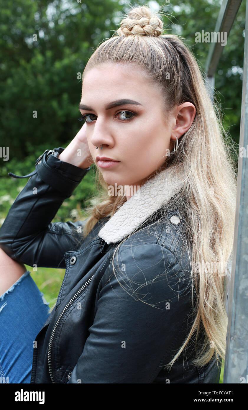 Tough Girl stock photo. Image of jewellery, though, money