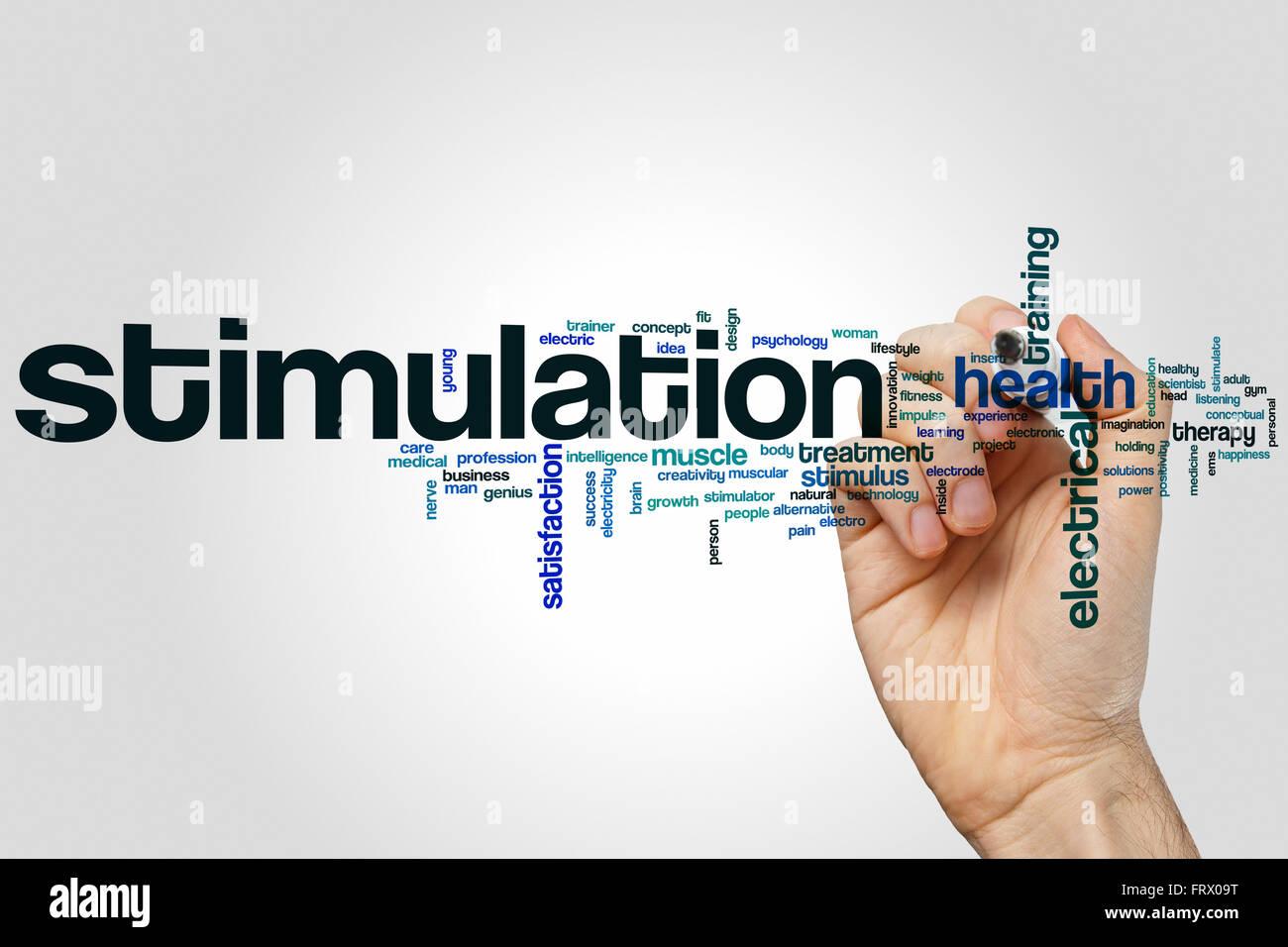 Stimulation word cloud concept Stock Photo - Alamy