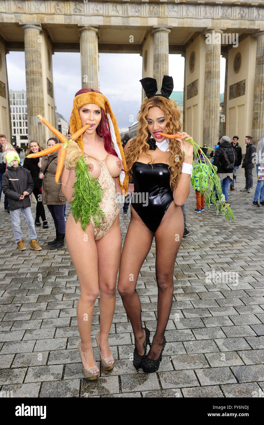 Micaela Schaefer and Sarah Joelle Jahnel at an Easter