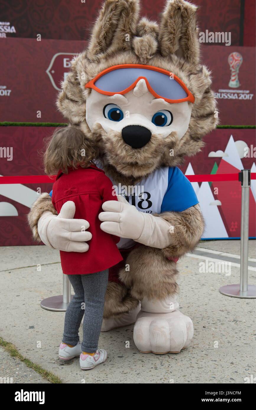 World Cup 2018 Mascot Zabivaka during the FIFA 2018 World