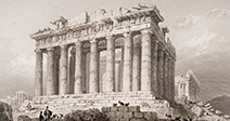 The Parthenon at Athens Greece in the 19th century - Stock Photo