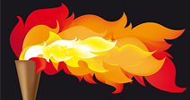 Abstract vector illustration of the Olympic flame - Stock Photo