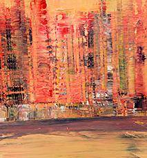 Skyline of Manhattan, New York, acrylic painting, artist Gerhard Kraus, Kriftel, Germany - Stock Photo
