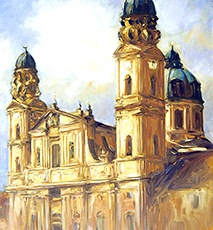 Theatinerkirche Munich - Stock Photo