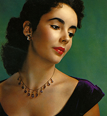 ELIZABETH TAYLOR (1932-2011) US film actress about 1950