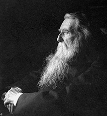 John Ruskin, English artist, poet and critic, c1897. Artist: Emil Otto Hoppe - Stock Photo