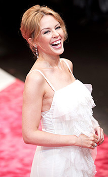 Australian singer Kylie Minogue arrives for the 15th annual GQ Men of the Year award gala at the Komische Oper - Stock Photo