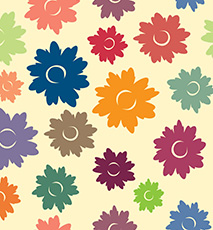 Floral vector illustration - Stock Image