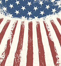 American flag themed background. Vector - Stock Photo
