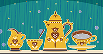 Retro coffee set Illustration - Stock Photo
