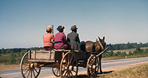 African American family travelling to town on a Saturday afternoon, Greene Co., Ga. - Stock Photo