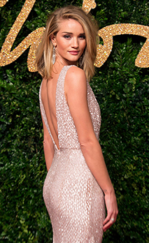 epaselect epa05039035 British actress and model Rosie Huntington-Whiteley arrives at the annual British Fashion - Stock Photo