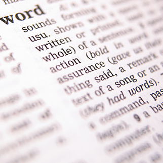 the word word described in the english dictionary - A5W1G8 ©  Open Door / Alamy