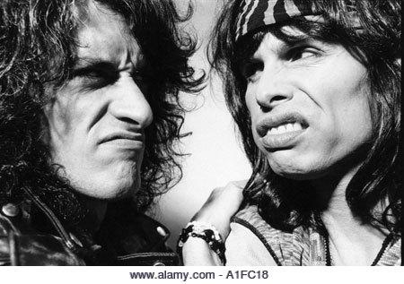Aerosmith Steven Tyler lead singer and Joe Perry lead guitarist
