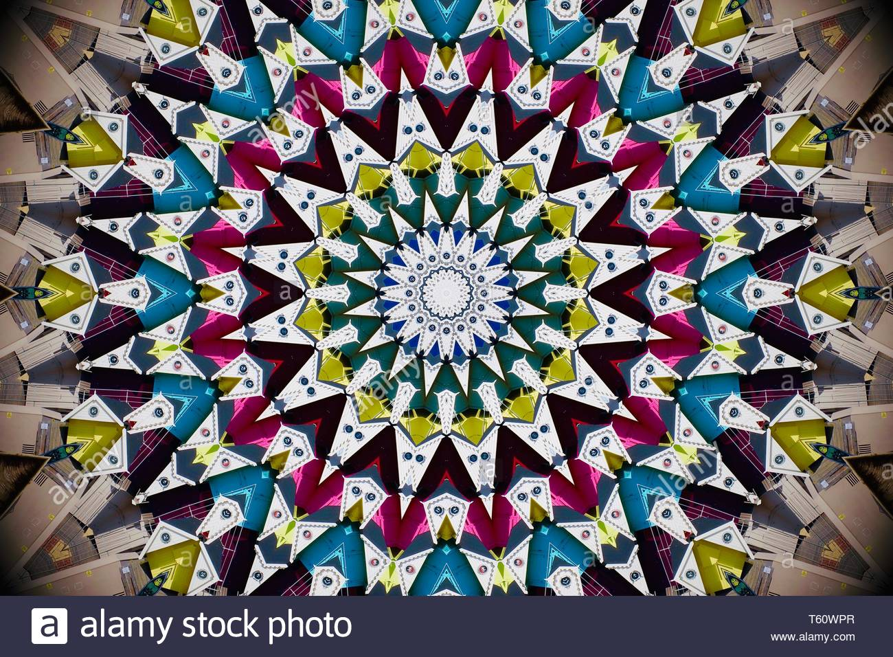 abstract-kaleidoscope-view-of-beach-huts